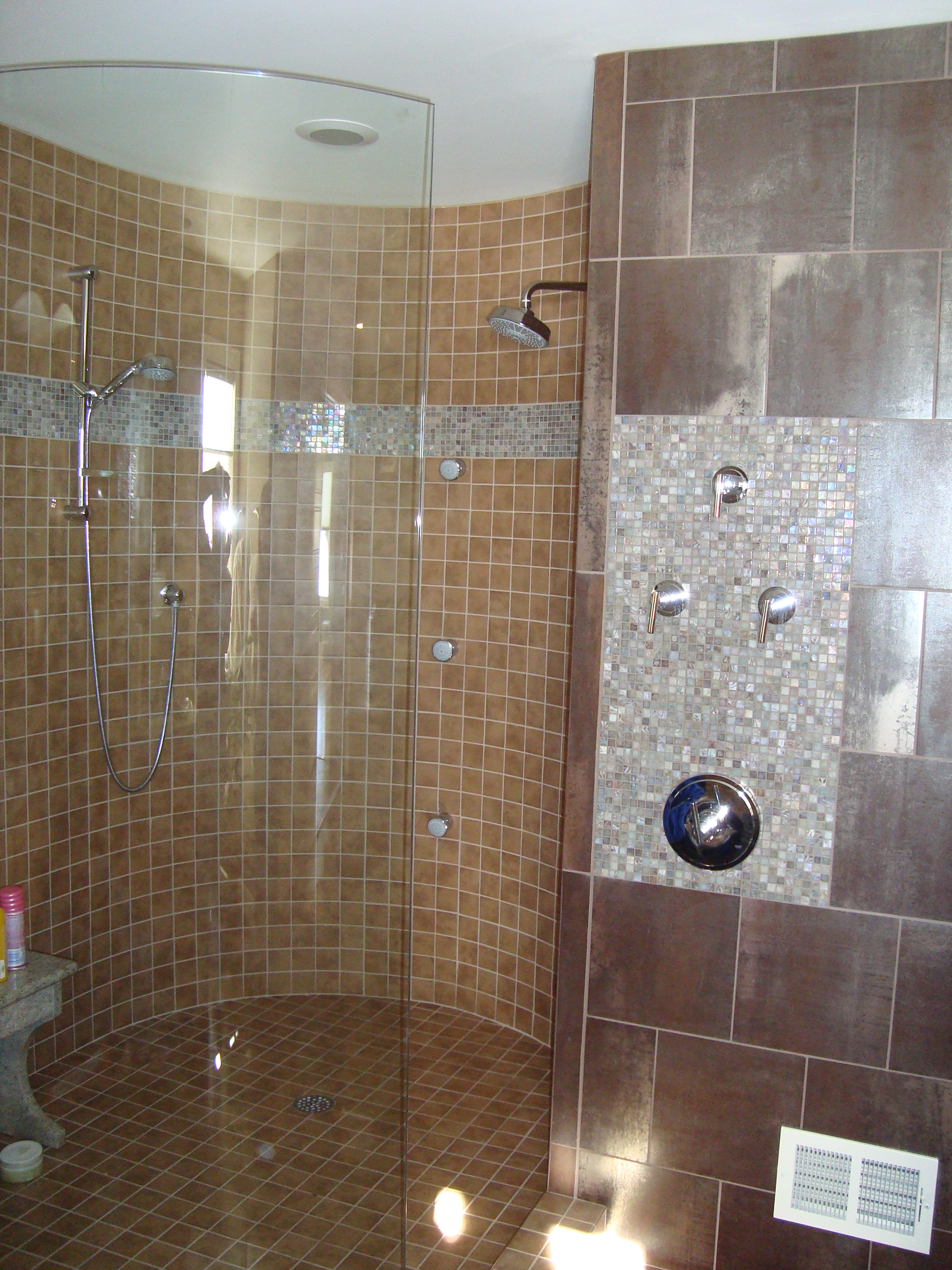 frameless glass shower enclosure